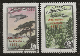 Russie 1955 N° Y&T : PA. 102 Et 103 Obl. - 1923-1991 UdSSR