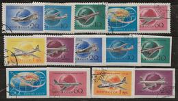 Russie 1958-1959 N° Y&T : PA. 105 à 111 + ND. Obl. - 1923-1991 UdSSR