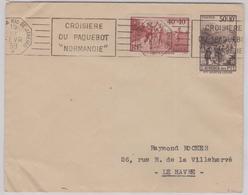 """LSC -  N° 346 Et 347 OBL. CROISIERE DU PAQUEBOT """"NORMANDIE"""" N-W A RIO / FEV. 39 - Mechanische Stempels (reclame)"""