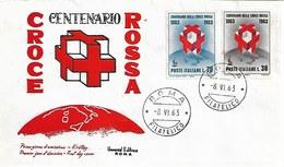 Fdc Universal Editrice: CROCE ROSSA 1963 ;no Viaggiata; AF_Roma - F.D.C.