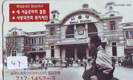 Telecarte Japan * KOREA Reliée (47) KOREA  Verbunden - KOREA  Related - Phonecard - SEOUL STATION - Paysages