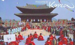 Telecarte Japan * KOREA Reliée (49) KOREA  Verbunden - KOREA  Related - Phonecard - - Paysages