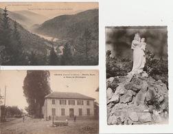 20 / 4 / 415. -  GIROMAGNY. ( 90 ) 2. CPA. &. 1. CPSM   -  MAIRIE, ÉCOLE, VUE DE LA VALLÉE &.  N  D. LIBÉRATRICE. - Giromagny