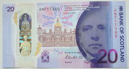 Scotland 20 Pounds 2019 UNC P- NEW < Bank Of Scotland > Polymer - Scozia