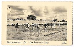 Cpsm. 50 HAUTEVILLE SUR MER (ar. Coutances) Les Jeux Sur La Plage (Volley Ball) 1955  Phot. Lucien - Autres Communes