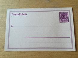 K2 Deutsches Reich Ganzsache Stationery Entier Postal RP 21 - Germania