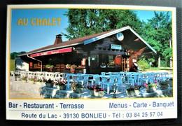 BONLIEU - CHAUX Du DOMBIEF - 39 JURA - Carte Double Gite Restaurant Camping & Le Lac - France