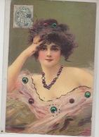 JOLIE FEMME  ( Carte Avec Strass ) ( Fréderique Vallet Bisson ) - Jonvelle