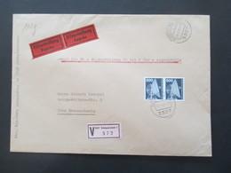 Berlin Nr. 507 DS Industrie Und Technik MeF Waagerechtes Paar Als Eilbrief / Eilzustellung Expres Eigenhändig! - Cartas
