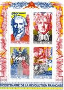 France.bloc No 12 De 1990.bicentenaire De La Révolution Française.n**. - Sheetlets