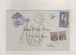 Egypte 1929. Lettre Grand Hôtel Helouan-Les-Bains Pour Bâle (Taxée) - Covers & Documents