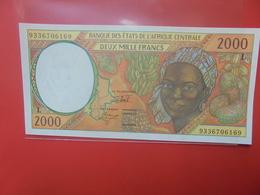 AFRIQUE CENTRALE 2000 FRANCS LETTRE L  PEU CIRCULER/NEUF (B.12) - États D'Afrique Centrale