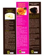 Lot 3 Marque Page Recette De Cuisine De Truffe, Truffes, Carpaccio De Fraise, Poule Farcie Truffée - Bookmarks