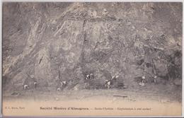 Almeria (Andalucia) Société Minière D'Almagrera Mine Santa-Matilde Exploitation à Ciel Ouvert - Almería
