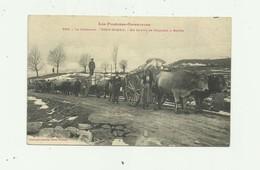 66 - FONT ROMEU - Un Convoi De Chariots A Boeufs Beau Plan D'attelages Animé Bon état - France