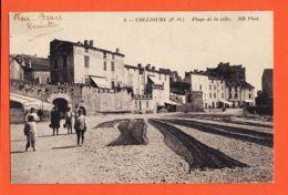 Car1791 COLLIOURE (66) Plage De La Ville Séchage Filets Pêche 1916 à BOUTET NEURDEIN 4 Pyrénées Orientales - Collioure
