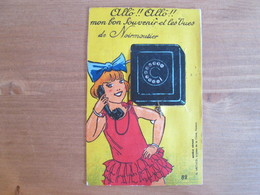 Carte A Systeme  .  Petite Fille Qui Telephone . Allo De Noirmoutier - Noirmoutier