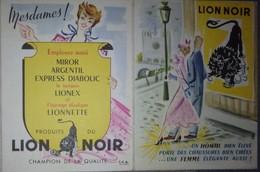 Petit Calendrier De Poche Publicitaire 1955 Lion Noir - Petit Format : 1941-60