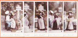 Car1822 Rare Série 5 CPA MENUCOURT 92-Val Oise Métier PATISSIER Amour Enfants PONTOISE 1910s STEBBING Photo ETOILE - Menucourt