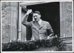 AK/CP Propaganda  Hitler  Reichsparteitag  Nürnberg Nazi      Gel/circ.1933-45   Erhaltung/Cond. 2-  Nr. 01005 - War 1939-45