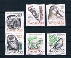 Schweden 1989 Tiere Mi.Nr. 1520/25 Kpl. Satz ** - Ungebraucht