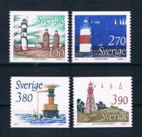 Schweden 1989 Leuchttürme Mi.Nr. 1526/29 Kpl. Satz ** - Ungebraucht
