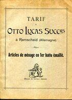 CATALOGUE TARIF.ARTICLES DE MENAGE EN FER BATTU EMAILLE.OTTO LUCAS REMSCHEID.ALLEMAGNE .(P.J) - Non Classificati