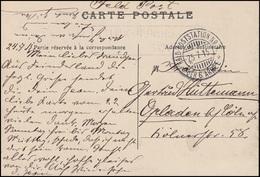 Feldpost Schwacher BS MOBILES MASCHINEN-AMT I. Vom 25.7.15 AK LA CITADELLE LILLE - Besetzungen 1914-18