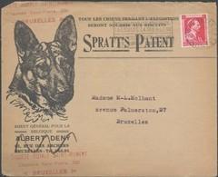 Belgium - Illustrated (Dog) Advertising Cover 'Societe Royale Saint Hubert'. Brussels 1944. German Shepherd Dog - Lettres & Documents