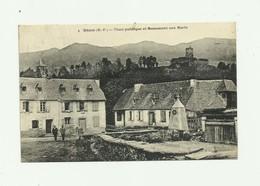 65 - GENOS - Place Publique Et Monument Aux Morts Animé Bon état - Autres Communes
