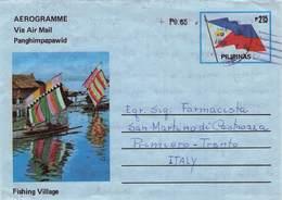 PHILIPPINES - AEROGRAMME 1985 - ITALY  /ak1115 - Filippine