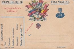 France - 1915 Franchise Militaire, 'GLOIRE AUX ALLIES'. Drapeaux Alliés + Effigie General Joseph Joffre. - Lettres & Documents