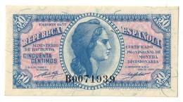 SPAIN50CENTIMOS1937P93UNC.CV. - [ 3] 1936-1975 : Regency Of Franco