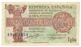SPAIN1PESETA1937P94UNC.CV. - 1-2 Pesetas