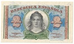 SPAIN2PESETAS1938P95UNC.CV. - 1-2 Pesetas
