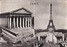 PARIS - (75)  -  CPSM MULTIVUES - AFFRANCHISSEMENT TOUR EIFFEL DE 1958. - Tour Eiffel
