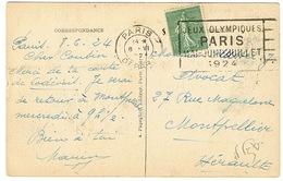 O.MEC FLIER PARIS DEPART JEUX OLYMPIQUES 1924 SUR CPA - Ete 1924: Paris
