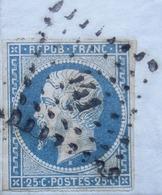 Bordeaux 1853 N°10 Sur Lettre De Régis Pour Lyon - Postmark Collection (Covers)