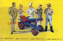 71- MACON -BUBINGEN SARRE - RARE DEPLIANT TRACTEUR MOTO STANDARD SUPERIOR- MOTOCULTEUR- - Tracteurs
