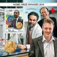 2020-04- MALDIVES -  NOBEL PRIZE 2019         1V    MNH** - Nobel Prize Laureates