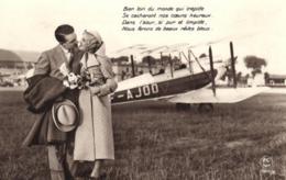D 8850 - Fantaisie   Couple Près D'un Avion - Couples