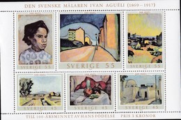 Schweden, 1969,  Mi. Nr.: 638/41 Block 1,  MNH **, Gemälde Von Ivan Aguéli ( - Blocks & Sheetlets
