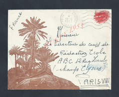 MILITARIA ALGÉRIE LETTRE ILLUSTRÉE EN FRANCHISE MILITAIRE POSTE AUX ARMÉES 1958 A F N  : - Algérie (1924-1962)