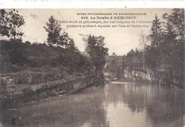 818. LE DOUBS A REMONOT + LONG HIST . PAPIER COLLE AU VERSO . 2 SCANES - France