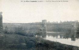 468E.... LE MAS D'AGENAIS . Le Pont Suspendu Sur La Garonne - France