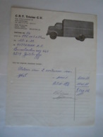 Gentbrugge 1989 C.R.T Trivier Camion Facture Plaatsen Afval Containers - Cars