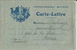 CARTE - LETTRE  DRAPEAUX  LES  ALLIÉS  /  Envoi  En  1916  Du  Secteur  163  à  NEVERS  ( Nièvre ) - FM-Karten (Militärpost)