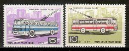 Korea North 1977 Corea  / Public Transport Bus MNH Autobuses Buses / Cu17032  10-14 - Busses