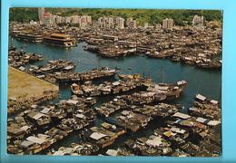 HONG KONG---bird's-eye View Of Aberdeen--voir 2 Scans - China (Hongkong)