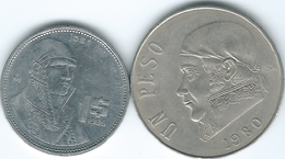 Mexico - 1980 - 1 Peso (KM460) & 1986 (KM496) - Mexico